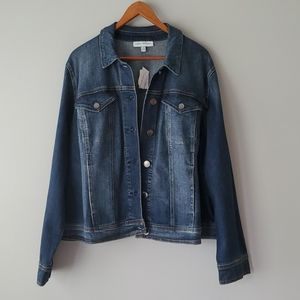 Lane Bryant Dark Denim Button Up Jean Jacket 22